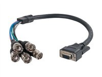 C2G Premium VGA Female to RGBHV (5-BNC) Male Video Cable VGA cable BNC (M) to HD-15 (VGA) (F)