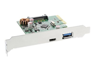 InLine USB 3.1 host controller - USB-Adapter - PCIe x4 low profile - USB 3.1 x 2