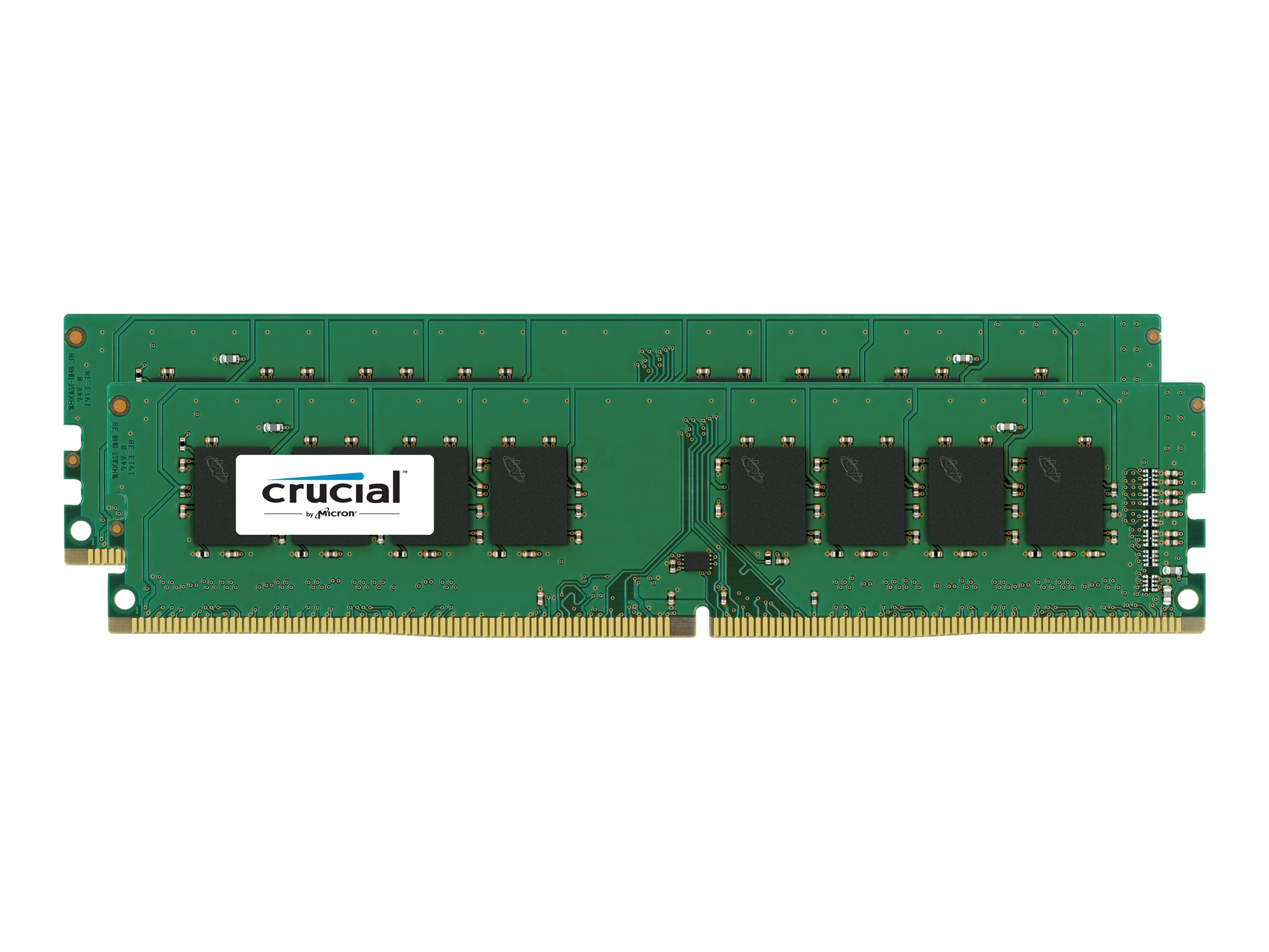 Crucial - DDR4 - 16 GB : 2 x 8 GB - DIMM 288-PIN - 2133 MHz / PC4-17000 - CL15
