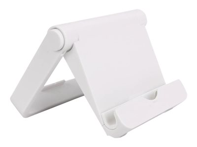 Inland Universal Stand for cellular phone / tablet (foldable) white desktop