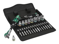 Wera Zyklop 8100 SA 6 Ratcheting torque wrench with bit and socket set 28 Dele