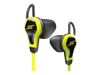 SMS Audio BioSport - Earphones with mic - in-ear - wired - 3.5 mm jack - yellow