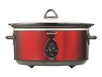 Brentwood SC-150R Slow cooker 6.5 qt 120 W red