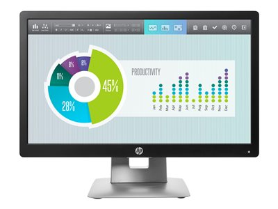 HP EliteDisplay E202 LED monitor 20INCH (20INCH viewable) 1600 x 900 @ 60 Hz IPS 250 cd/m²
