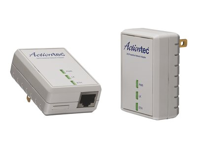 Actiontec 200 AV Powerline Network Adapter Kit PWR200K01 Bridge HomePlug AV (HPAV)