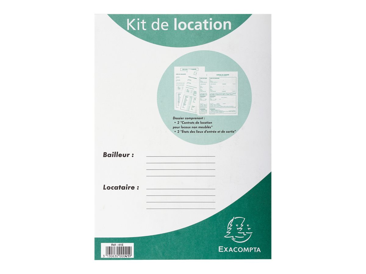 Exacompta kit dossier de location non meubl registres for Location meuble