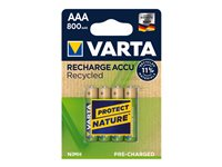 Varta Recharge Accu Recycled 56813 - Batterie 4 x AAA-Typ