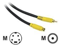 C2G Value Series 3ft Value Series Bi-Directional S-Video to Composite Video Cable - video cable - S-Video / composite v…