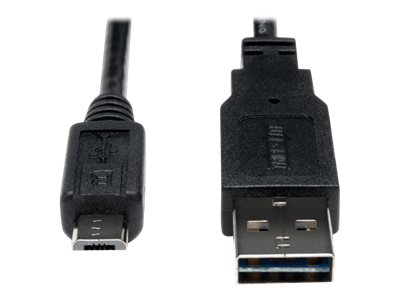 Tripp Lite 1ft USB 2.0 High Speed Cable 28/24AWG Reversible A to 5Pin Micro B M/M 1' - USB cable - 30 cm