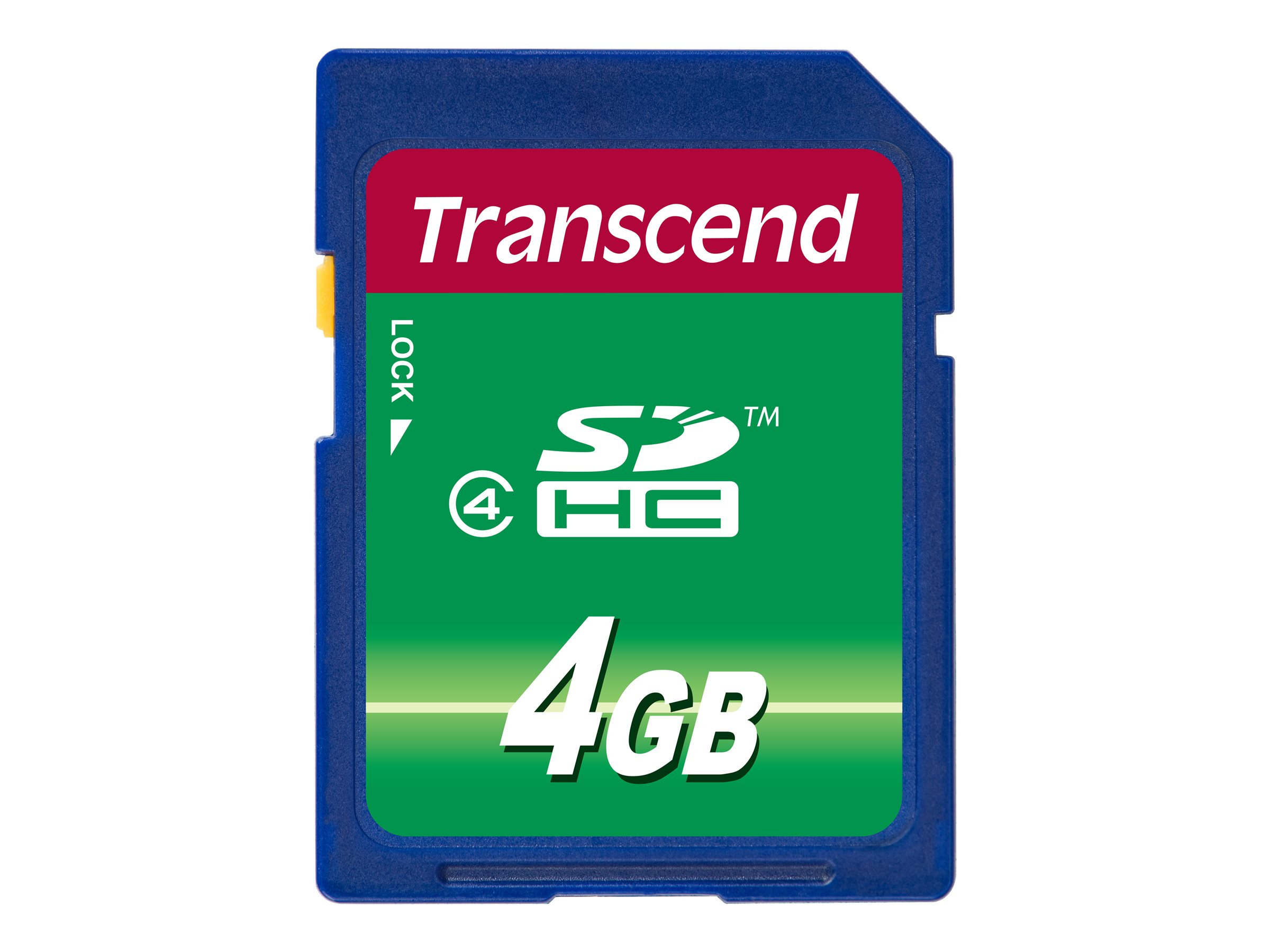 Transcend - Flash-Speicherkarte - 4 GB - Class 4 - SDHC