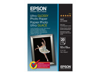 Epson Ultra Glossy Photo Paper - Brillant - 100 x 150 mm 20 feuille(s) papier photo - pour Expression Home XP-255, 257, 352, 355, 452, 455; Expression Home HD XP-15000