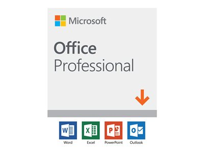 Microsoft Office Professional 2019 Licens 1 PC Windows
