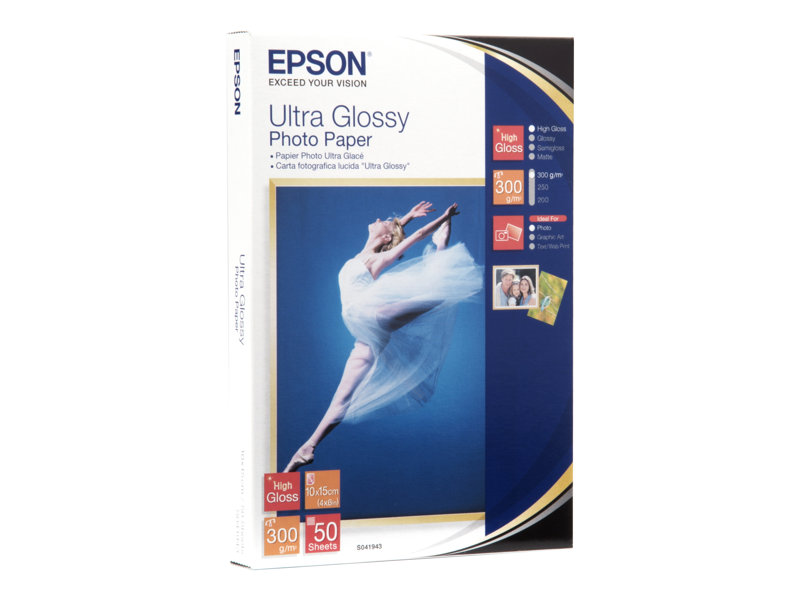 Epson Ultra Glossy Photo Paper - papier photo - 50 feuille(s) - 100 x 150 mm