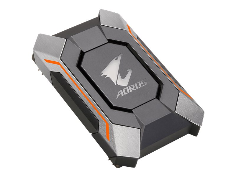 Gigabyte AORUS SLI HB bridge RGB (1 slot spacing) - SLI-Bridge für Grafikkarten - für Gigabyte AORUS GeForce GTX 1080, AORUS GeForce GTX 1080 8G