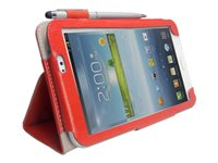 i-Blason Slim Book Flip cover for tablet synthetic leather red
