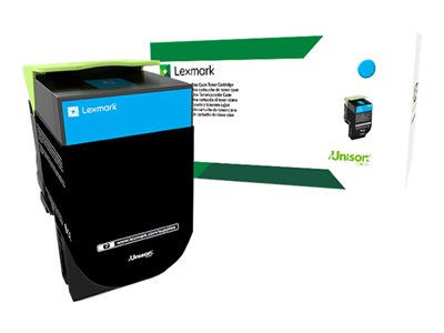 Lexmark 801XC Extra High Yield cyan original toner cartridge LCCP, LRP