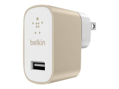 Belkin MIXIT Home Charger Power adapter 2.4 A (USB) gold
