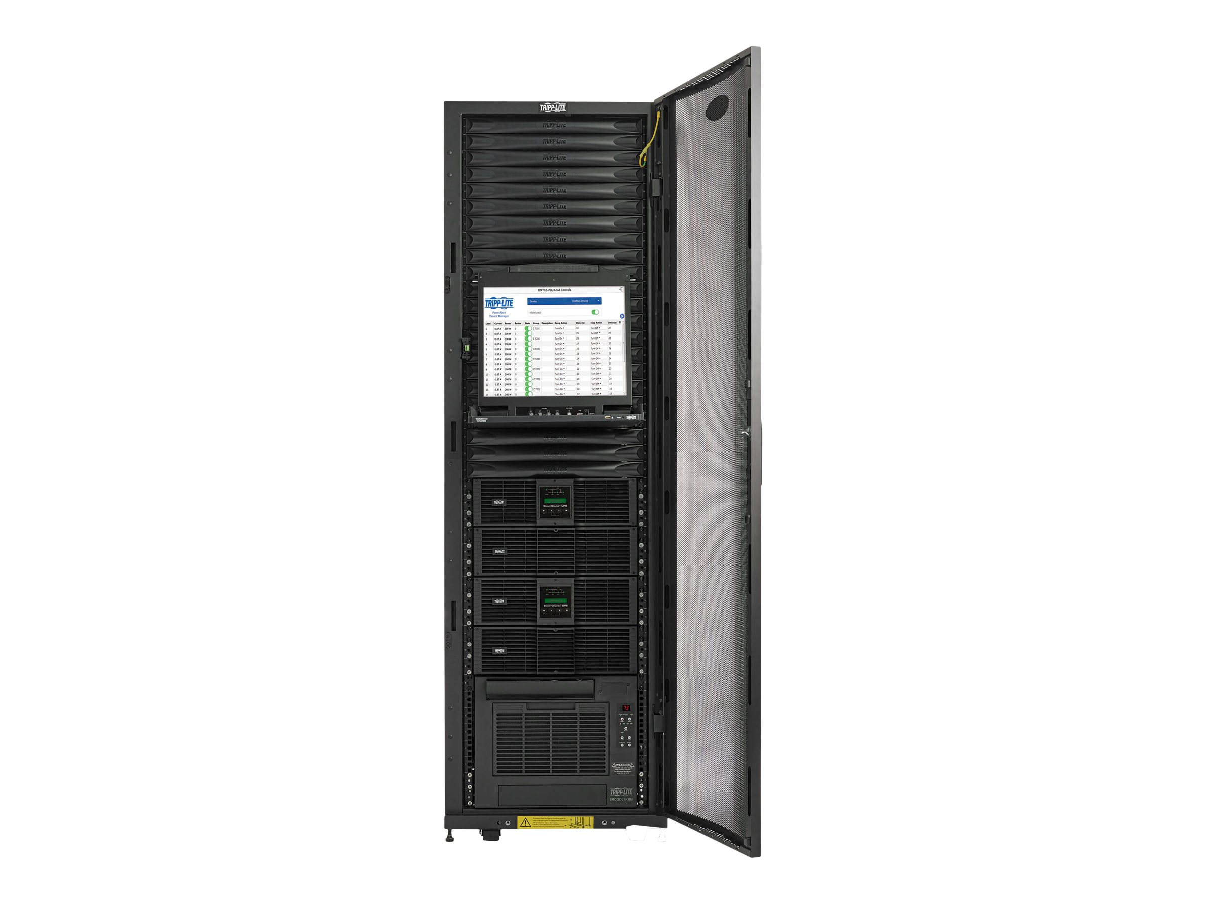 Tripp Lite EdgeReady Micro Data Center - 38U, (2) 3 kVA UPS Systems (N+N), Network Management and Dual PDUs, 230V Assem…