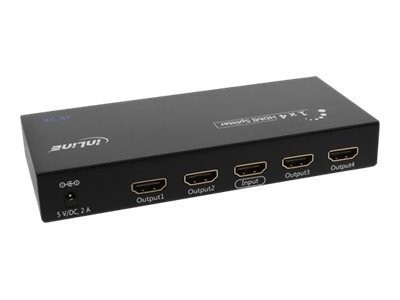 InLine HDMI Splitter - Video-/Audio-Splitter - 4 x HDMI - Desktop
