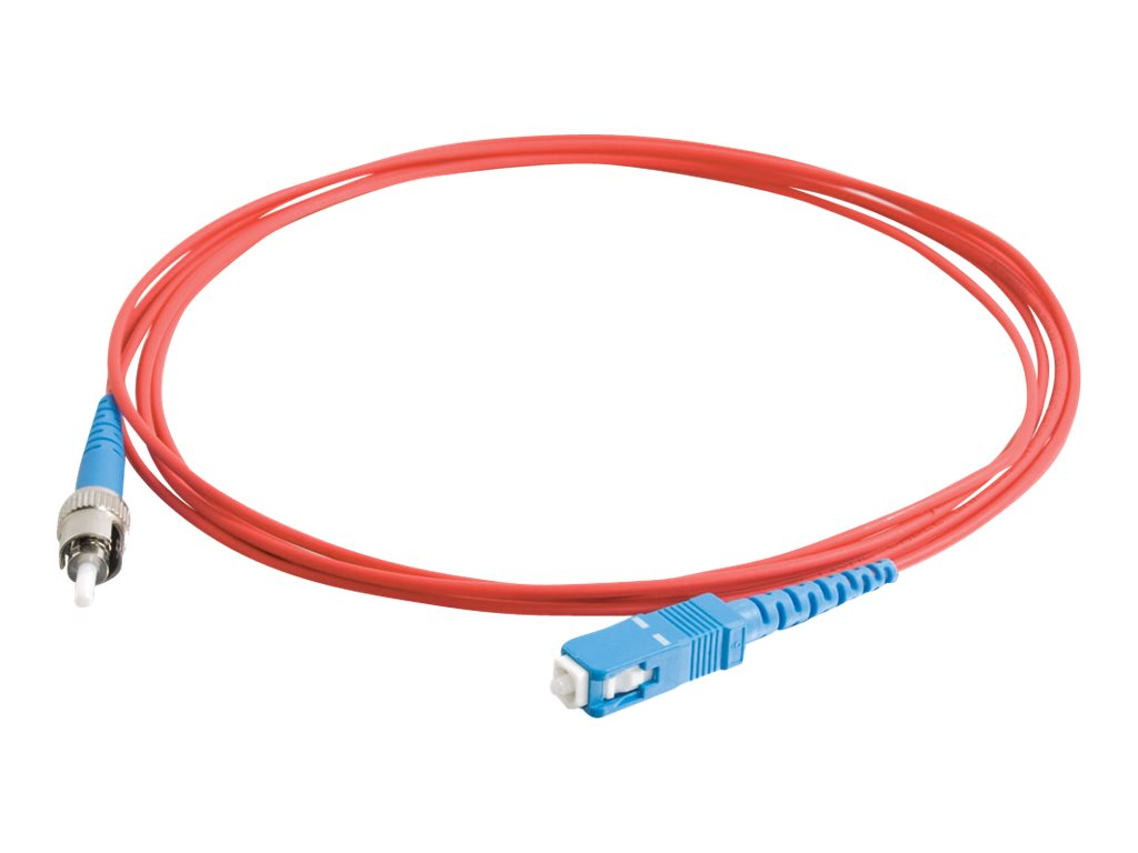 C2G 3m SC-ST 9/125 Simplex Single Mode OS2 Fiber Cable - Plenum CMP-Rated - Red - 10ft - patch cable - 3 m - red