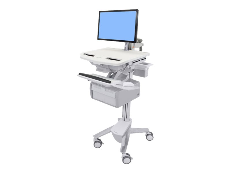 Ergotron StyleView Cart with LCD Arm, 2 Tall Drawer - cart (open architecture)