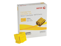 Xerox ColorQube 8870 - 6 - yellow - solid inks - for ColorQube 8870DN, 8880_ADN, 8880_ADNM