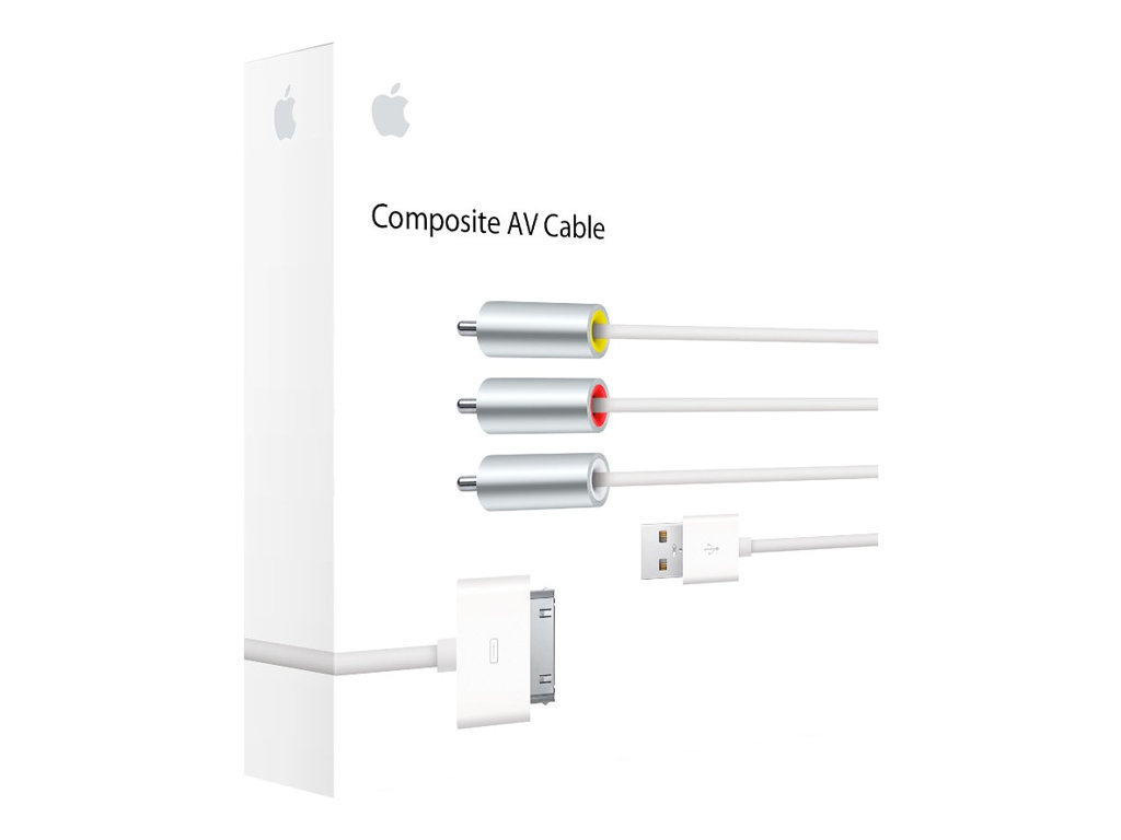 Apple Composite AV Cable - power / audio / video cable - composite video / audio