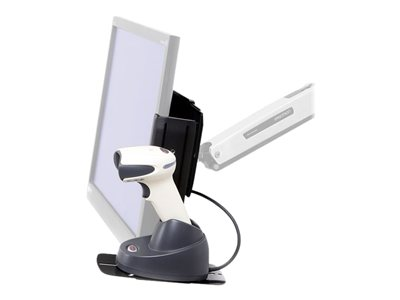 Ergotron Scanner Shelf, VESA Attach Barcode scanner shelf black for P/N: