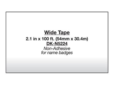 Brother DK-N5224 Paper non-adhesive Roll (2.15 in x 100 ft) 1 roll(s) continuous labels