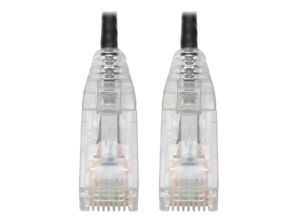 Tripp Lite Cat6 UTP Patch Cable (RJ45) - M/M, Gigabit, Snagless, Molded, Slim, Black, 6 ft. - patch cable - 1.83 m - bl…