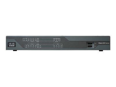 Cisco 891 Router 8-port switch WAN ports: 3 refurbished
