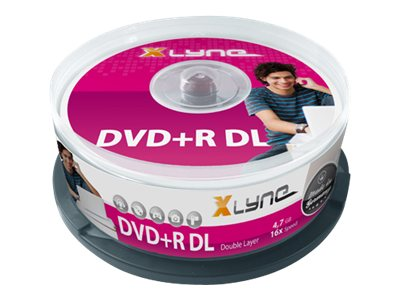xlyne - 25 x DVD+R DL - 8.5 GB 8x - Spindel