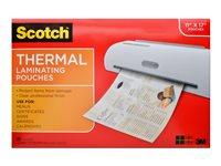 Scotch Thermal Laminating Pouches Menu Size 25-pack clear