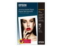 Picture of Epson Archival Matte Paper - paper - 50 sheet(s) - A4 - 189 g/m² (C13S041342)