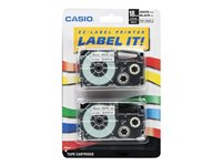 Casio XR-18WE2S Black on white Roll (0.7 in) 2 pcs. tape cartridge