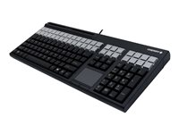CHERRY LPOS G86-71411 Keyboard with touchpad, magnetic card reader USB US black
