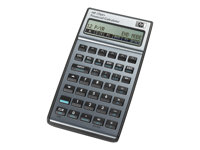 HP 17bII+ - Financial calculator - battery - carbonite, alloy metallic