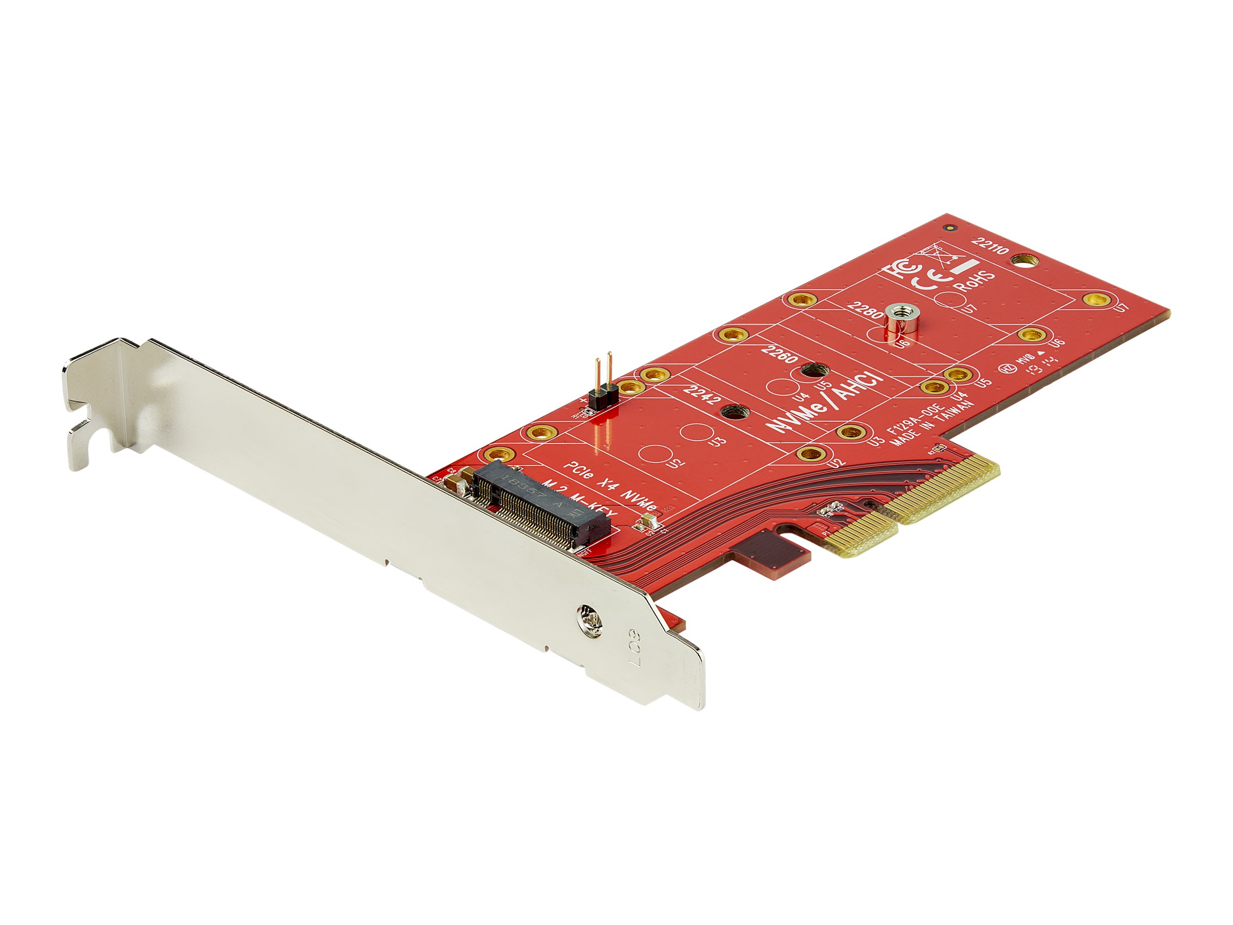 StarTech.com M2 PCIe SSD Adapter - x4 PCIe 3.0 NVMe / AHCI / NGFF / M-Key - Low Profile and Full Profile - SSD PCIe M.2 Adapter (PEX4M2E1) - Schnittstellenadapter - M.2