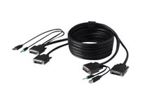 Belkin Secure KVM Cable Kit - Video- / USB- / Audio-Kabelsatz