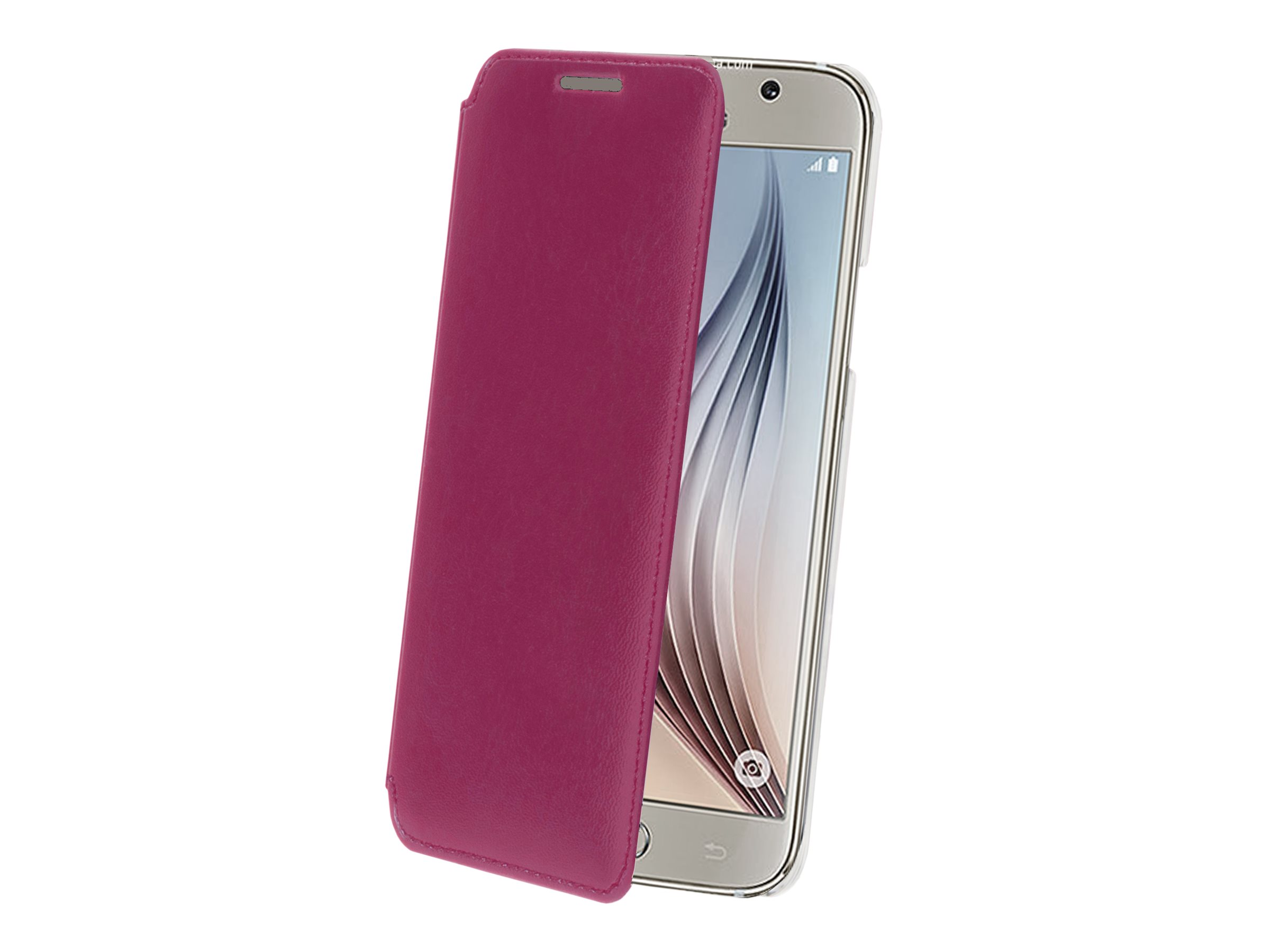 Muvit Made in Paris Crystal Folio - Protection à rabat pour Samsung GALAXY S6 - Fuchsia