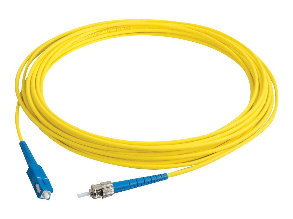 C2G 4m SC-ST 9/125 Simplex Single Mode OS2 Fiber Cable - Yellow - 13ft - patch cable - 4 m - yellow