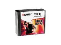 EMTEC Classic - 10 x CD-R - 700 MB ( 80 Min ) 52x - Slim Jewel Case