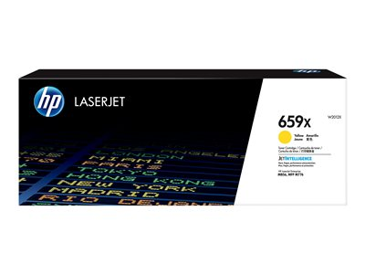 HP 659X - yellow - original - LaserJet - toner cartridge (W2012X)