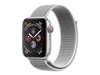 "Apple Watch Series 4 (GPS + Cellular) - 40 mm - aluminium argenté - montre intelligente avec boucle sport - nylon tissé - coquillage - taille de bande 130-190 mm - affichage 1.57"" - 16 Go - Wi-Fi, Bluetooth - 4G - 30.1 g"