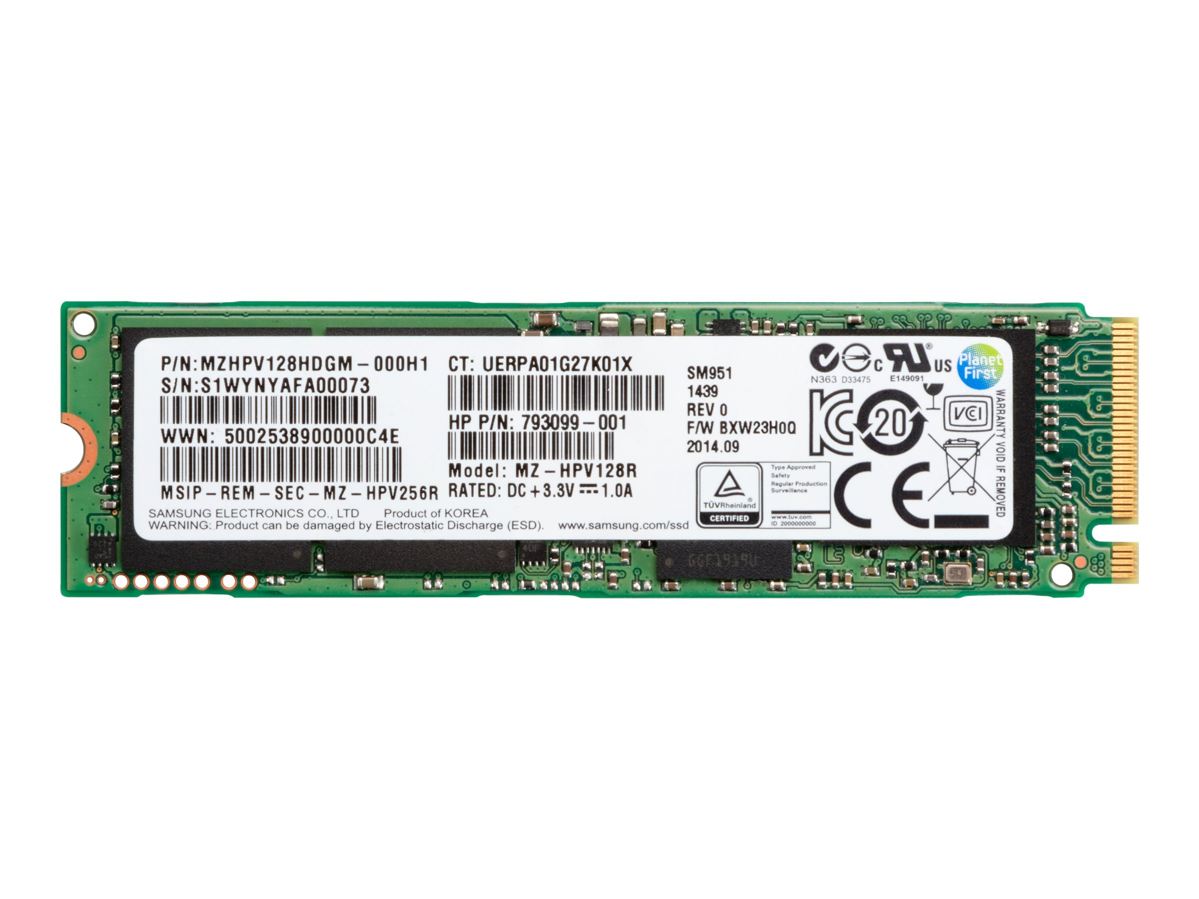 HP Z Turbo Drive - Solid-State-Disk - 512 GB - intern - M.2 - PCI Express 3.0 x4 (NVMe)