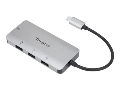 Targus USB-C Ethernet Adapter with 3x USB-A Ports - network adapter