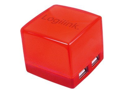 LogiLink Cube USB 2.0 HUB 4-Port illuminated - Hub - 4 x USB 2.0