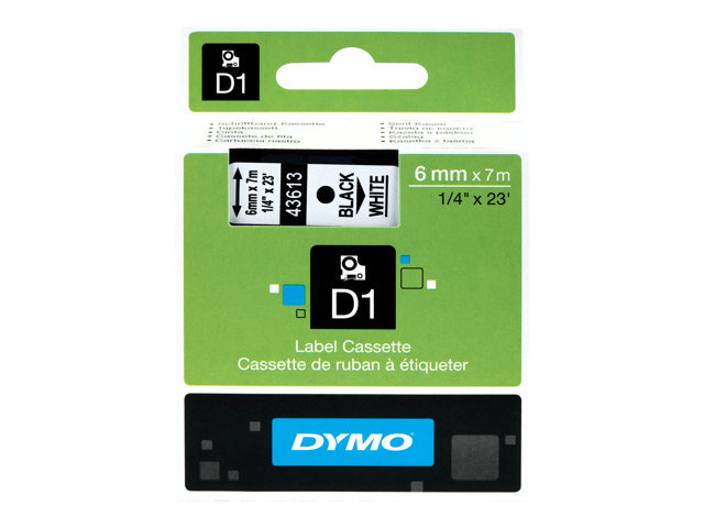Image of DYMO D1 - label tape - 1 roll(s) - Roll (0.6cm x 7m)