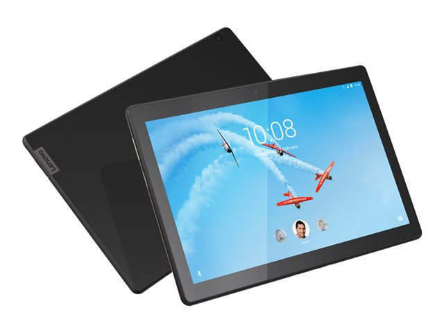 "Lenovo Tab M10 ZA49 - Tablette - Android 8.0 (Oreo) - 16 Go Embedded Multi-Chip Package - 10.1"" IPS (1920 x 1200) - Logement microSD - 4G - noir ardoise"