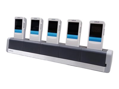 Unitech 5-slot Charging Cradle - Barcode scanner charging stand - output connectors: 5 - for Companion Scanner MS916, MS926